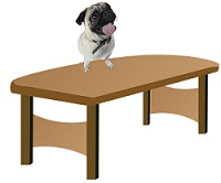 Here The Word On Is A Preposition Because It Describes Position Of Dog Who Sitting Table Showing Relation Between
