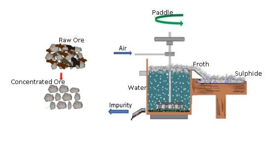Class_12_Chemistry_Isolation_Current_Metals_Extarction_Of_Metals_Froth_Flotation